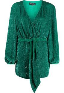 Retrofete Vestido Envelope - Verde