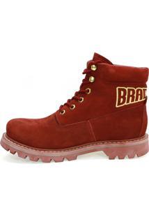 Botina Harley Vermelha Braddock
