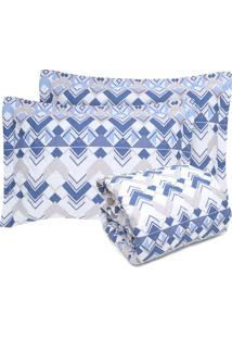 Colcha King Altenburg 3Pçs Home Collection Azul