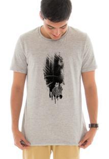Camiseta Manga Curta Touts Zebra Guache Cinza
