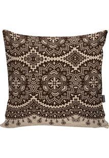 Capa De Almofada African- Marrom Escuro & Bege- 42X4Stm Home