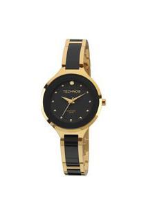 Relógio Technos Feminino Ceramic Dourado Analógico 2035Lyw4P