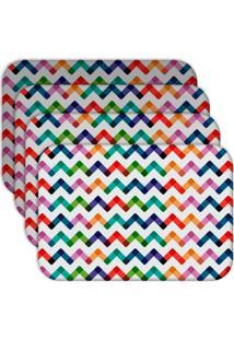 Jogo Americano - Love Decor Colorful Abstract Kit Com 4 Peças - Kanui