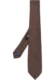 Dsquared2 Gravata Clássica De Seda - Brown