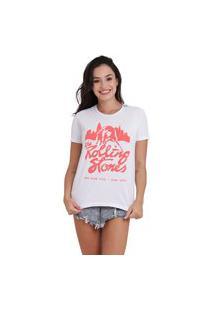 Camiseta Jay Jay Basica The Rolling Stones Branca Dtg