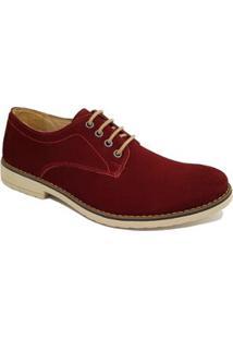 Sapato Casual Couro Sartre Masculino - Masculino-Bordô