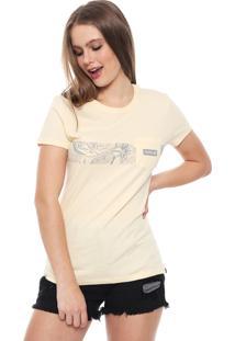 Camiseta Hurley Damino Stripe Amarela