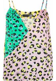 Love Moschino Suéter Color Block Com Estampa De Leopardo - Amarelo