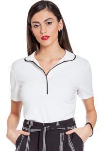 Camisa Polo Principessa Vivi Off White