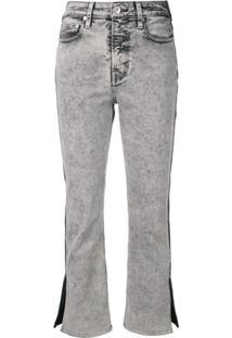 Proenza Schouler White Label Calça Jeans Color Block Com Fenda - Preto