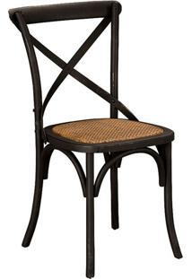 Cadeira Paris De Madeira Carvalho Americano Preta