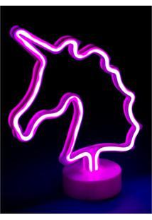 Luminaria Unicornio Puket Rosa