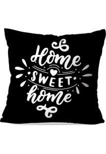Capa De Almofada Avulsa Decorativa Home Sweet Home 45X45Cm