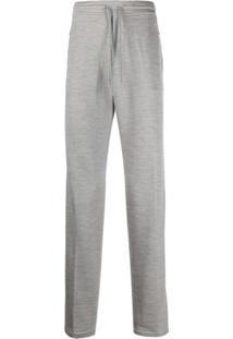 Brett Johnson Plain Drawstring Trousers - Cinza