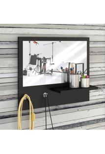 Painel Decorativo Com Espelho Trend Preto - Estilare Móveis