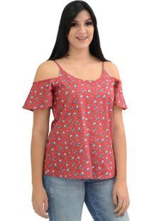 e4221f0a7 Dafiti. Blusa Energia Fashion Ciganinha Estampada Vermelho