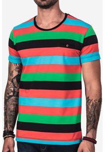 Camiseta Listrada Bolso Interno 102159