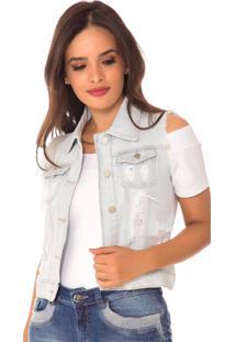 Colete Jeans Zair Carol Azul