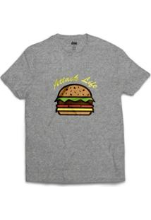 Camiseta Attack Life Hamburguer - Masculino