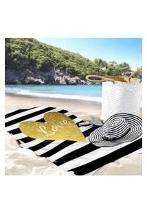 Toalha De Praia / Banho Love Brand Único