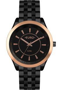 Relógio Color Slim Preto Euro Eu2035Yow/4P