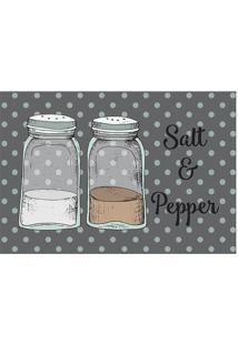 """Tapete Transfer """"Salt & Pepper""""- Cinza & Branco- 60Xtapetes Junior"""