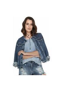Jaqueta Jeans Eventual Azul Tam. G