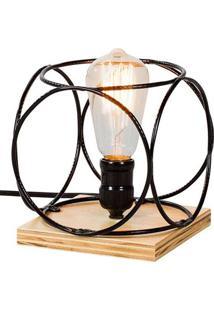 Luminaria Palas Estrutura Em Ferro Redondo Cor Preto 16Cm (Larg) - 54086 - Sun House