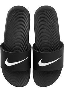Sandália Nike Kawa Slide Masculina - Masculino-Preto+Branco