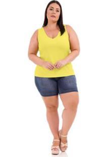 Regata Rovitex Premium - Feminino-Amarelo