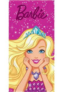 Toalha De Banho Barbie®- Pink & Amarela- 60X120Cm