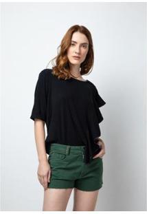 Short Slim Comfort Lança Perfume Feminino - Feminino-Verde