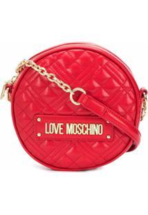 Love Moschino Bolsa Tiracolo Redonda Matelassê - Vermelho