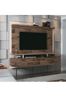 Painel Para Tv Até 55 Polegadas Limit I Marrom Deck E Off White