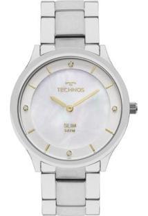 Relógio Feminino Technos Ladies Gl20Hg/1B Pulseira Aço Prata - Feminino-Prata