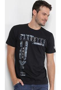 Camiseta Gangster Camuflada Masculina - Masculino