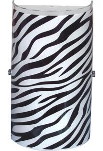 Arandela Venus Pequena Zebra Preta 1 Lâmpada Attena