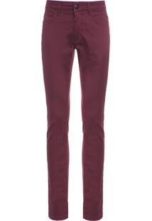 Calça Masculina Skinny Color - Vinho