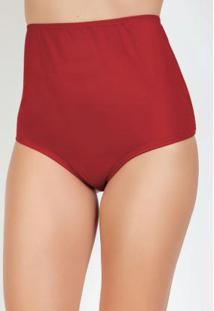 Calcinha Vermelha Modelo Hot Pant Com Elástico