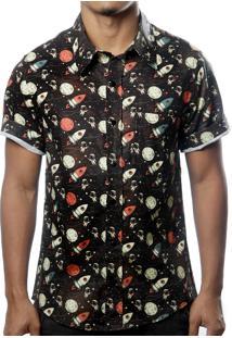 Camisa Camaleão Urbano Astronauta Preta