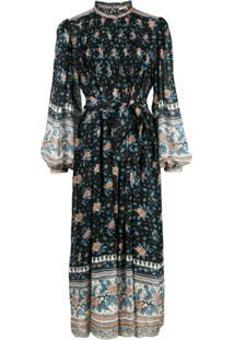 Ulla Johnson Vestido Com Estampa Floral - Preto