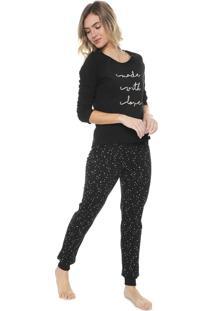 Pijama Hering Estampado Preto