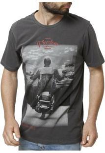 Camiseta Manga Curta Masculina Vels - Masculino-Cinza