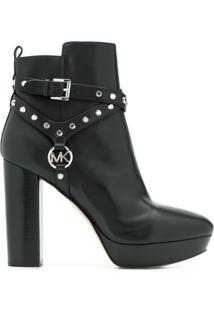Michael Michael Kors Ankle Boot Com Tachas - Preto