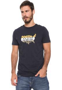 Camiseta Tommy Hilfiger Bram Azul-Marinho