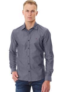 Camisa Armani Exchange Masculina Micro-Print Shirt