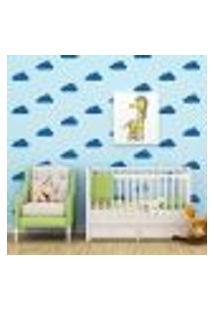 Adesivo Decorativo De Parede - Kit Com 35 Nuvens - 003Kad04