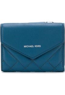 Michael Michael Kors Carteira Matelassê Pequena - Azul