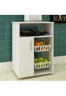 Armário De Cozinha 1 Porta Com Fruteira 2 Cestas Ba-1408 - Hecol