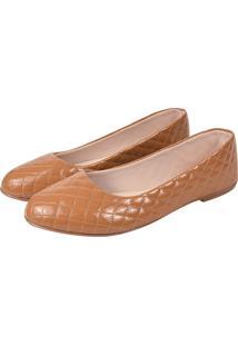 Sapatilha Romântica Calçados Matelasse Caramelo